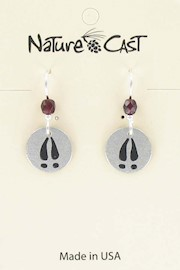 Earring dangle deer track THUMBNAIL