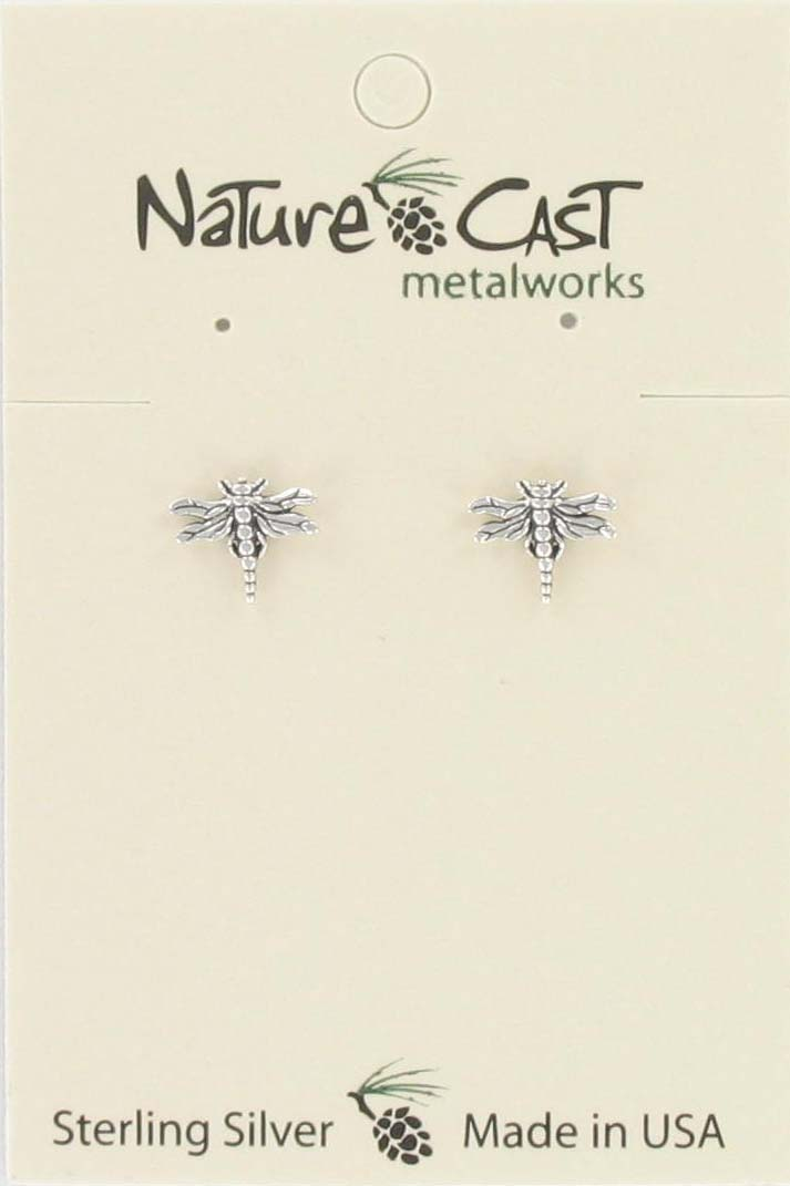 Earring post dragonfly sterling silver