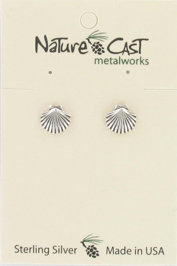 Earring post clam sterling silver
