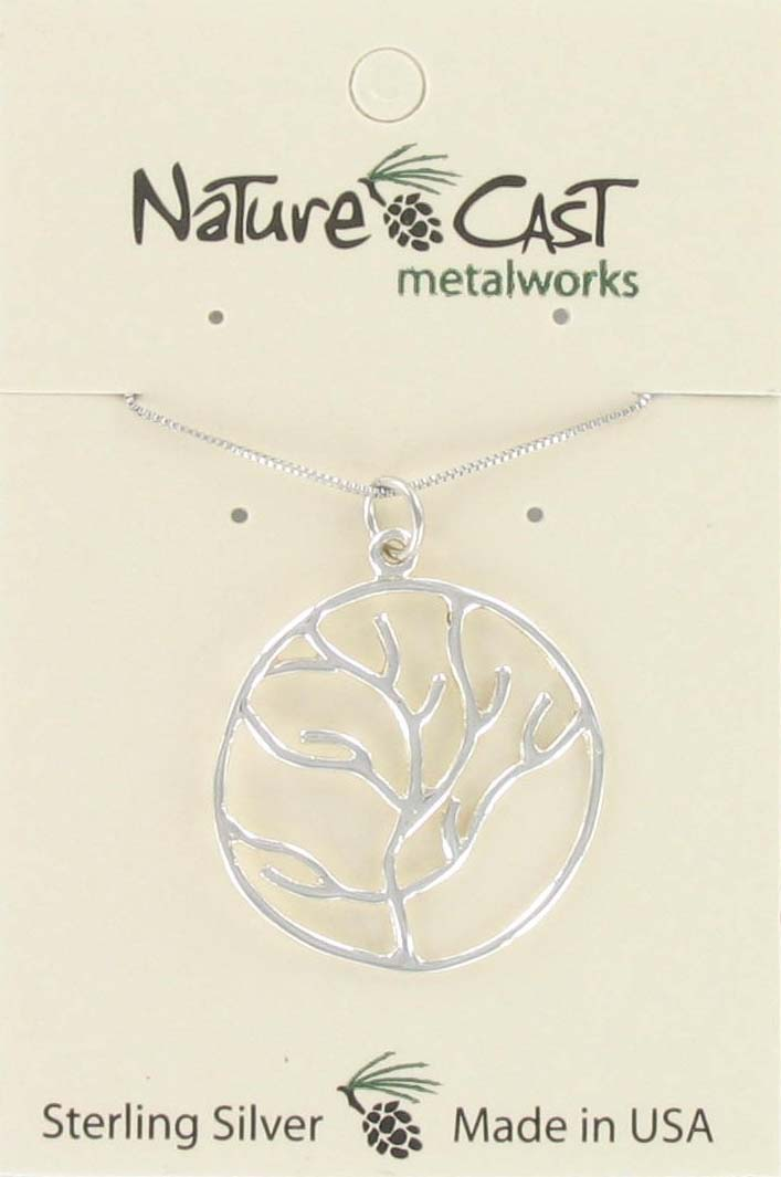 "Pendant tree of life w/18"" chain sterling silver"