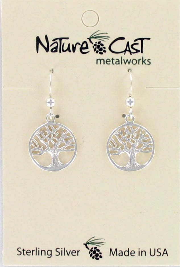 Earring dangle tree of life sterling silver MAIN
