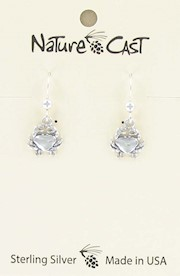 Earring dangle sterling silver crab THUMBNAIL