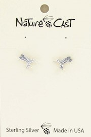 Earring post sterling silver hummingbird THUMBNAIL