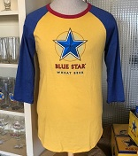 Blue Star Unisex 3 Qtr Sleeve Shirt