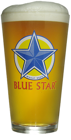 Blue Star Pint Glass