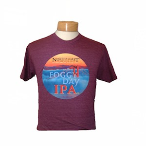 Foggy Day Unisex T-Shirt Maroon MAIN