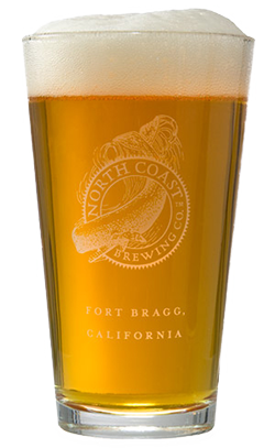 North Coast Brewing Logo Pint Glass
