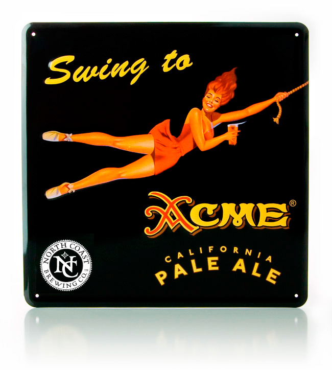 Acme Pale Ale Metal Sign MAIN