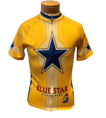 Men's Blue Star Bike Jersey MAIN