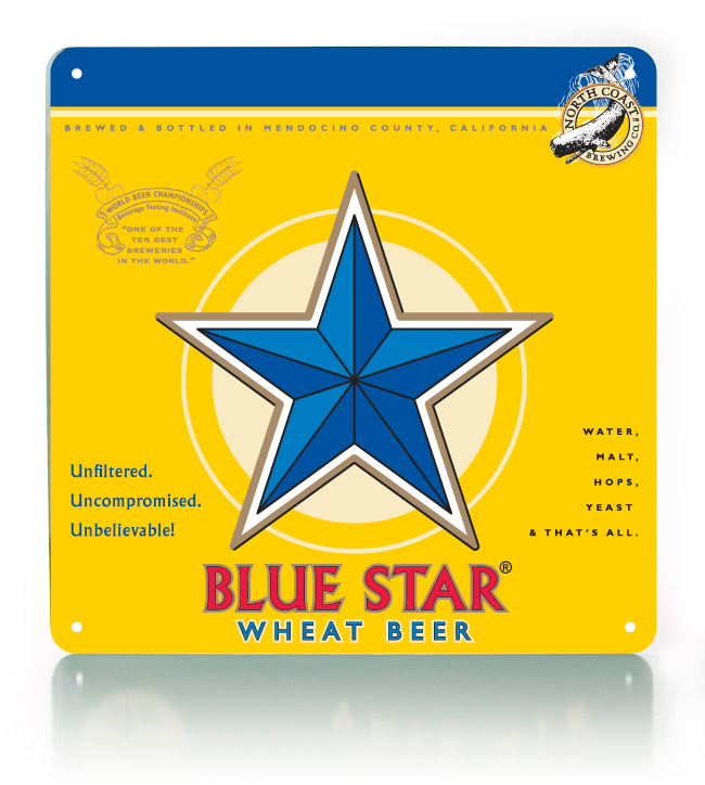Blue Star Metal Sign
