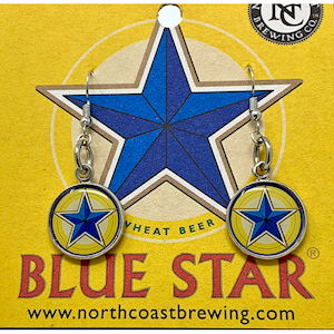 Blue Star Earrings MAIN