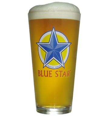 Blue Star Pint Glass MAIN