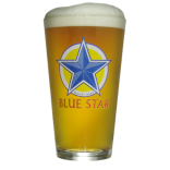 Blue Star Pint Glass THUMBNAIL
