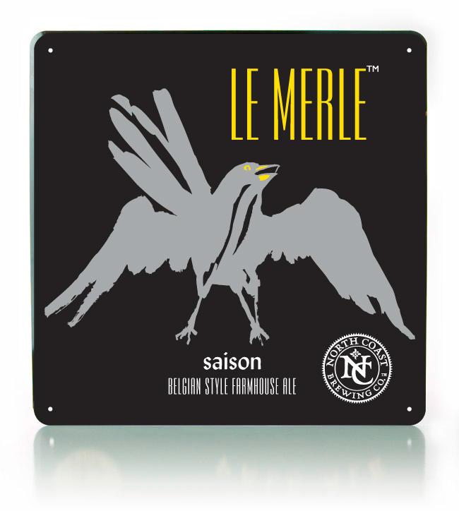 Le Merle Metal Sign