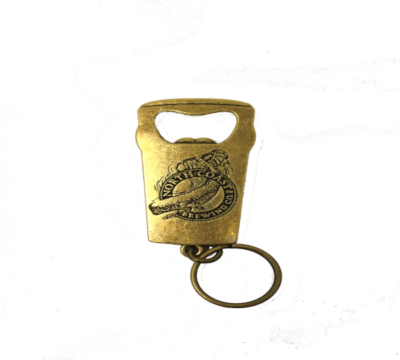NCBC Pint Whale Logo Key Tag Opener - brass MAIN