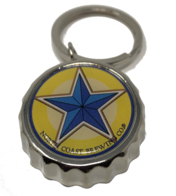Blue Star Opener Key Ring