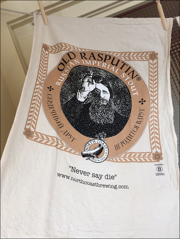Old Rasputin Organic Cotton Tea Towel MAIN