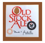 Iron On Patch with Old Stock Ale Logo THUMBNAIL