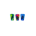 Tie Dye Colored Silicon Shot Glasses THUMBNAIL