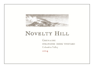 Novelty Hill 2014 Stillwater Creek Vineyard Grenache