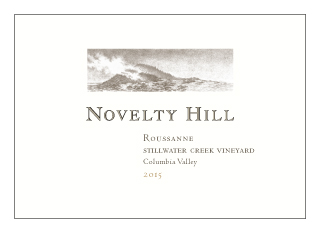 Novelty Hill 2015 Stillwater Creek Vineyard Roussanne