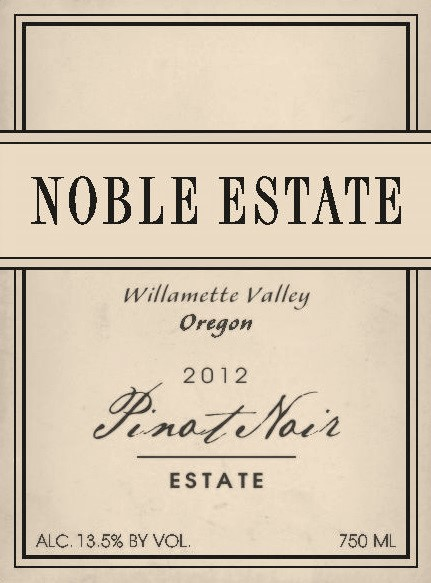 2013 Pinot Noir Estate