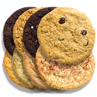 twenty four assorted vegan cookies THUMBNAIL