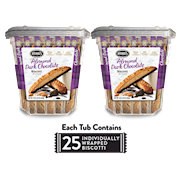 Two 33.25 oz. Tubs of Almond Dark Chocolate Biscotti THUMBNAIL