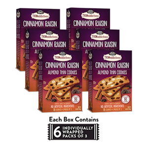 6 Boxes of Cinnamon Raisin Almond Thins LARGE