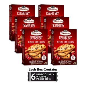 6 Boxes of Cranberry Almond Thins LARGE