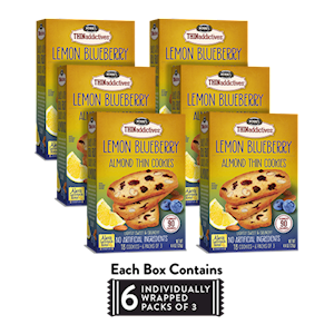 6 Boxes of Lemon Blueberry Almond Thins LARGE