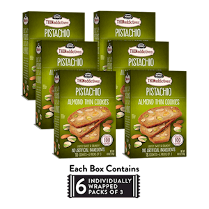 6 Boxes of Pistachio Almond Thins LARGE