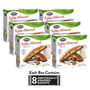 6 Boxes of Toffee Almond Biscotti THUMBNAIL