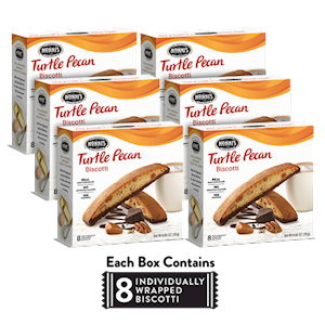 6 Boxes of Turtle Pecan Biscotti LARGE