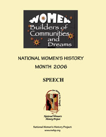 Women Builders of Communites and Dreams Speech