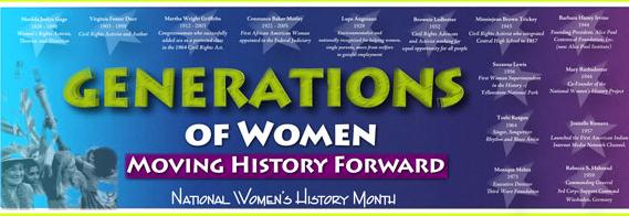 Generations of Women Moving History Forward  Paper Banner