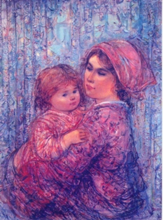 "Notecards:""Angelique and Child"""