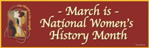 March is National Women's History Month banner (Burgundy) MAIN