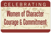 Celebrating Women of Character, Courage, and Commitment Button MAIN
