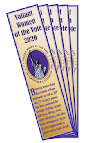 2020 Honoree; Valiant Women of the Vote Bookmark LARGE