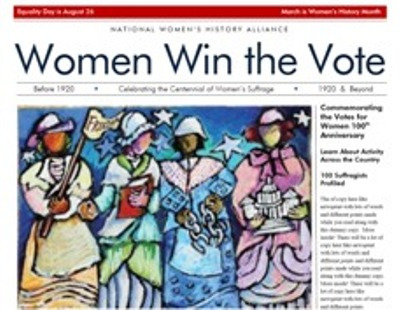One free copy of Women Win the Vote Gazette LARGE