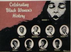 Celebrating Black Women's History Poster