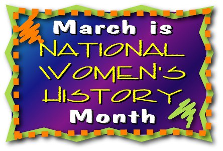 March is National Women's History Month Stickers