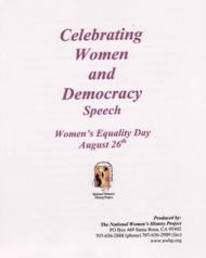 Celebrating Women & Democracy Speech/Powerpoint