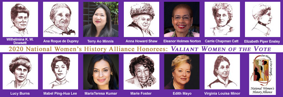 Valiant Women of the Vote Honoree Events