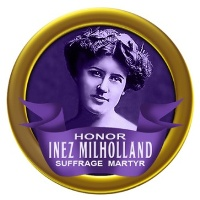 Honor Inez Pin-back Button