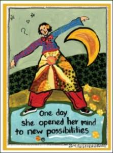 """One Day She Opened Her Mind.."" Magnet"