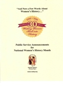 Public Service Announcements - Women's History MAIN