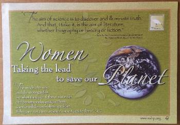 Women Taking the Lead to Save the Planet Placemats LARGE