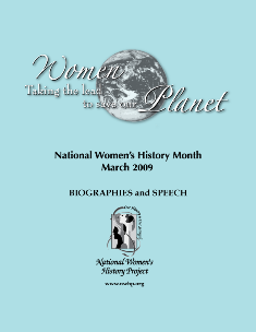 Women Taking the Lead to Save the Planet  Speech and Biography Booklet MAIN